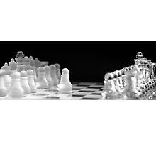 Chess 9: First move Photographic Print