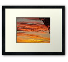 Firey Cane Colouds Framed Print