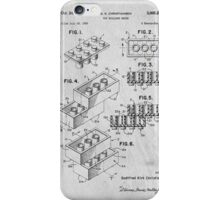 Lego original patent art for toy bricks iPhone Case/Skin