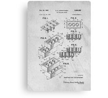 Lego original patent art for toy bricks Canvas Print