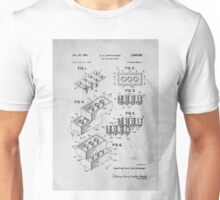 Lego original patent art for toy bricks Unisex T-Shirt