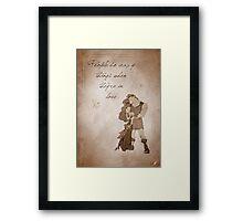 Hercules inspired valentine. Framed Print