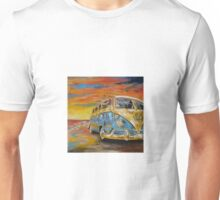 VW Volkswagen Campervan at Sunset Unisex T-Shirt