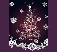 Winter holiday card with abstract Christmas tree and decorative snowflakes 2 Unisex T-Shirt