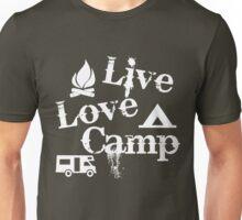 Live, Love, Camp Unisex T-Shirt