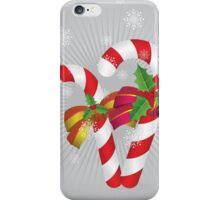 Two candy canes with bows iPhone Case/Skin