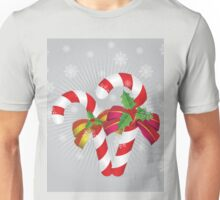 Two candy canes with bows Unisex T-Shirt