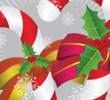 Two candy canes with bows Sticker
