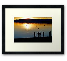 Tahoe Sunset Framed Print