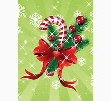 Holiday background with candy cane and bow T-Shirt