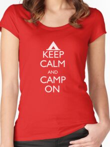 Keep Calm and Camp On Women's Fitted Scoop T-Shirt