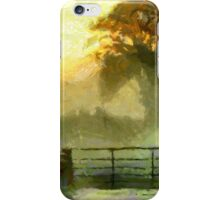 An English Country Scene in the Mist - all products except duvet iPhone Case/Skin