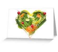Heart of vegetables! SALE! Greeting Card