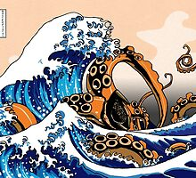 The Great Squid off Kanagawa by Jack Mudge