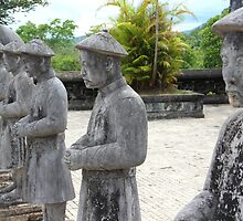 Stone Soldiers - Hue, Vietnam. by Tiffany Lenoir
