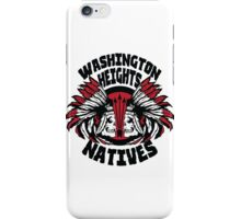 Washington Heights Natives (RED/BLACK) iPhone Case/Skin