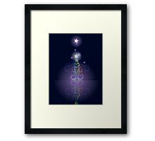 Greeting card design with abstract Christmas tree 3 Framed Print