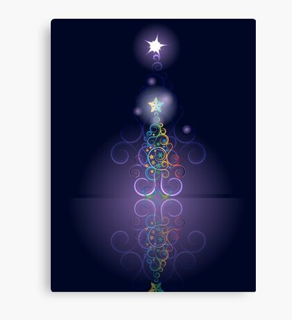 Greeting card design with abstract Christmas tree 3 Canvas Print
