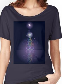 Greeting card design with abstract Christmas tree 3 Women's Relaxed Fit T-Shirt