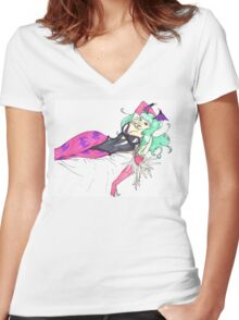 Succubus Women's Fitted V-Neck T-Shirt