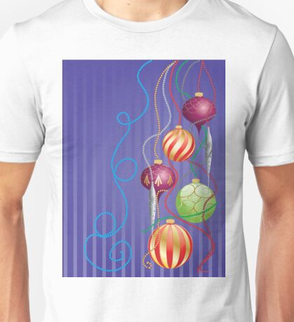 Card with glossy balls Unisex T-Shirt