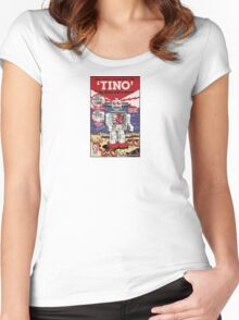 Tino the Heart Operated Toy Robot (Classic) Women's Fitted Scoop T-Shirt