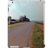 Country road, cloudy sky, fresh colors | landscape photography iPad Case/Skin