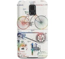 Colorful Bike Art - Vintage Patent - By Sharon Cummings Samsung Galaxy Case/Skin