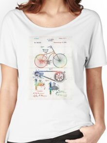 Colorful Bike Art - Vintage Patent - By Sharon Cummings Women's Relaxed Fit T-Shirt