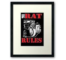 The Rat Rules - Poster Framed Print