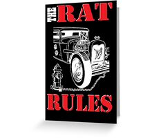The Rat Rules - Poster Greeting Card