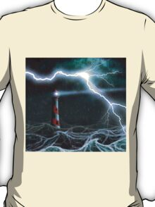 Lighthouse in the storm T-Shirt