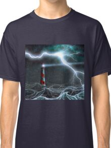 Lighthouse in the storm Classic T-Shirt