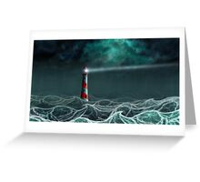 Lighthouse in the storm 2 Greeting Card