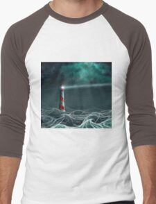 Lighthouse in the storm 2 Men's Baseball ¾ T-Shirt