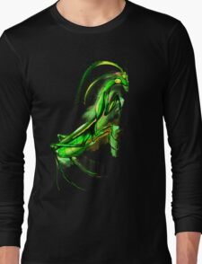 Praying Mantis Doodle Art Long Sleeve T-Shirt