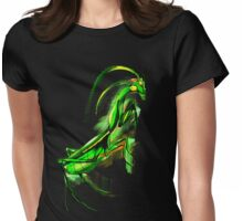 Praying Mantis Doodle Art Womens Fitted T-Shirt
