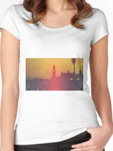 Surreal City Silhouette Women's Fitted Scoop T-Shirt