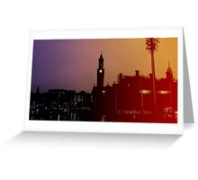 Rainbow City Silhouette Greeting Card