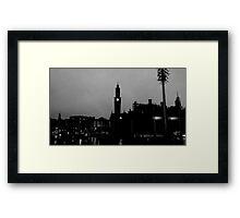 Black and White City Silhouette Framed Print