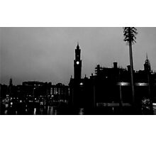 Black and White City Silhouette Photographic Print