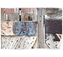 XO Aged Wooden Fence Poster