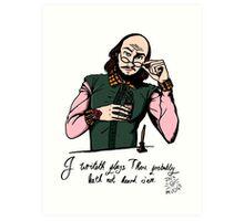 Hipster Shakespeare Art Print