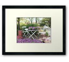 A Spot for Tea Framed Print
