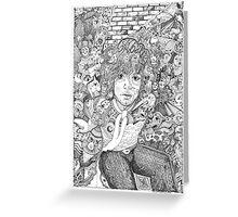 """Syd """"Mr Floyd"""" Barrett Greeting Card"""