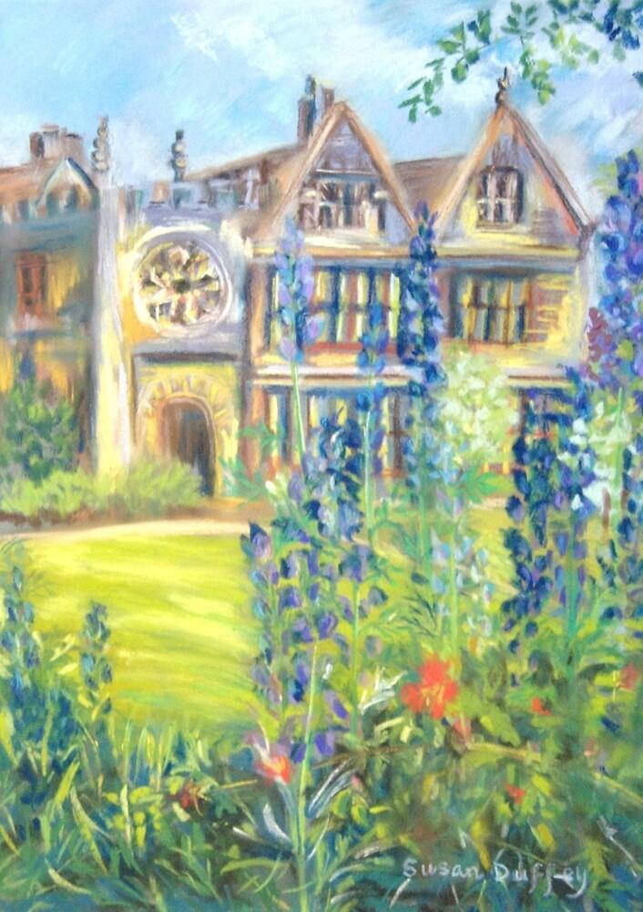 Monkshood at East Riddlesden Hall by Susan Duffey