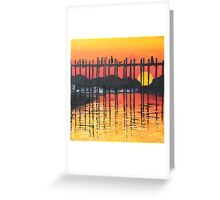 Bridge in Sunset Greeting Card