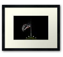 USA Night Flag Framed Print