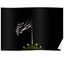 USA Night Flag Poster