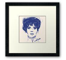 Natalie W. movie star Framed Print